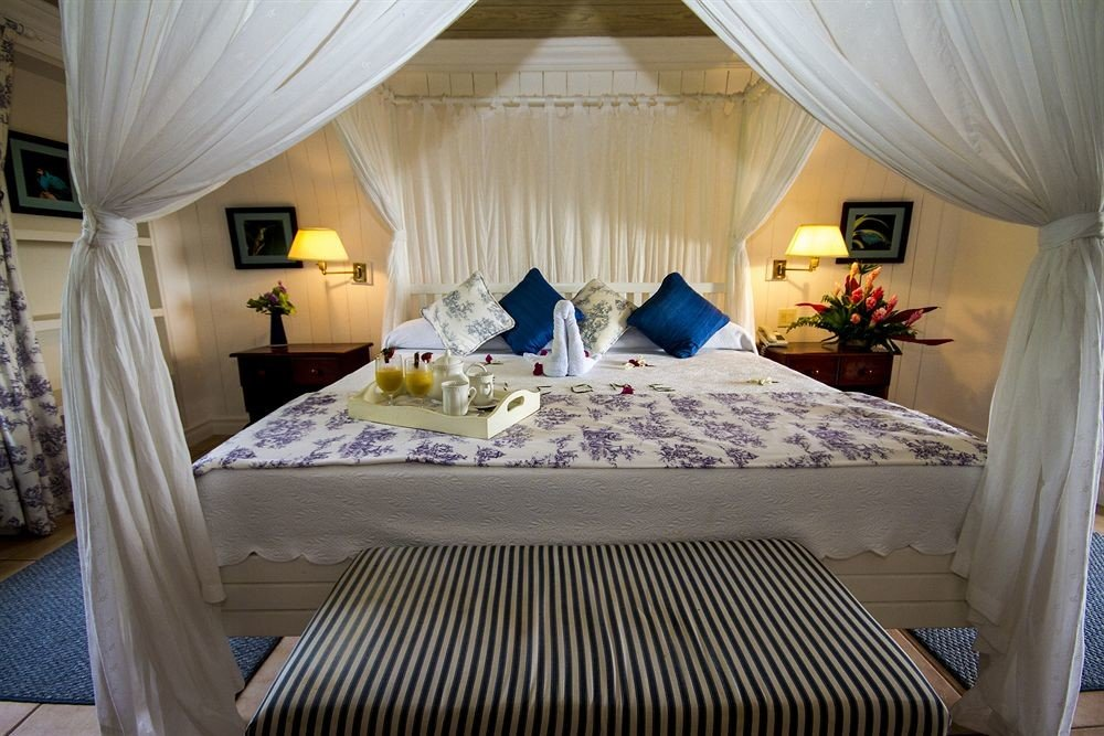 Beachfront Bedroom Historic Honeymoon Romance Romantic curtain property Suite Resort cottage