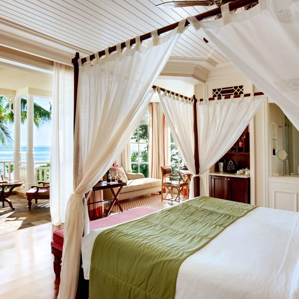 Beachfront Bedroom Island Luxury Romance Romantic curtain property home Suite Resort cottage farmhouse