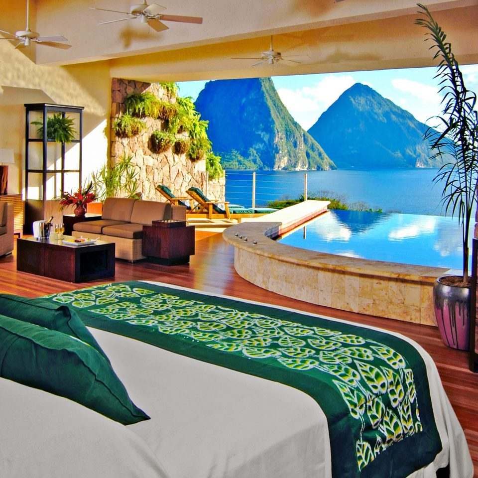 Beachfront Bedroom Island Luxury Pool Rustic Scenic views property Resort green Suite Villa cottage