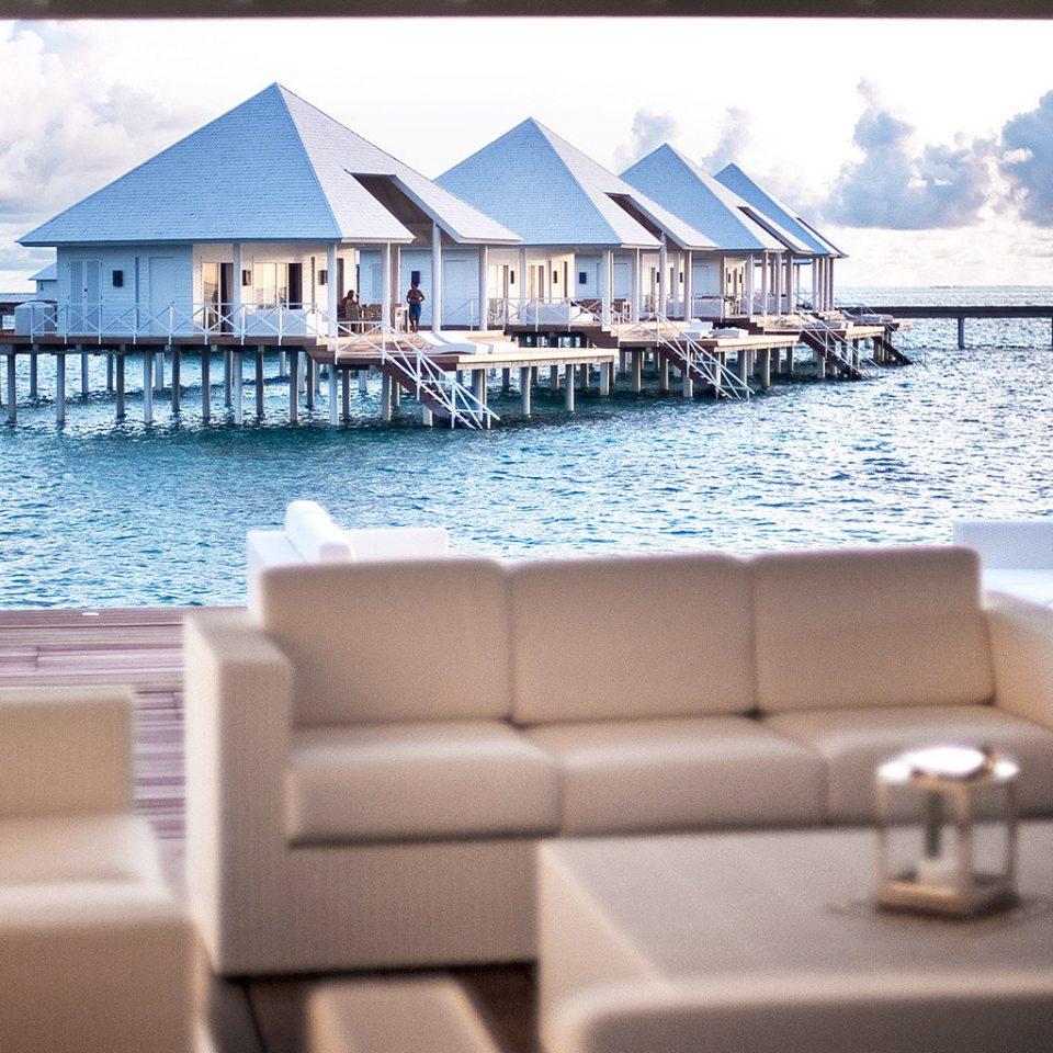 Beachfront Bedroom Modern Resort property leisure condominium home swimming pool Villa