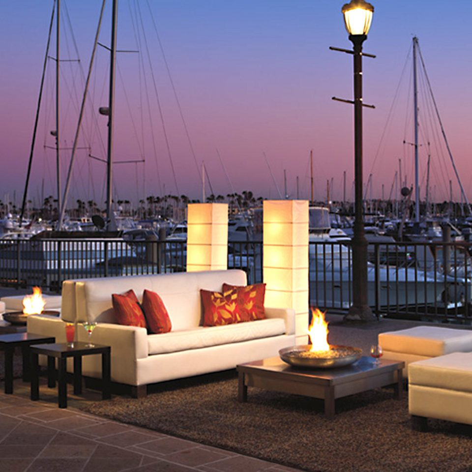 Beachfront Lounge sky marina Boat dock vehicle evening lighting yacht Harbor