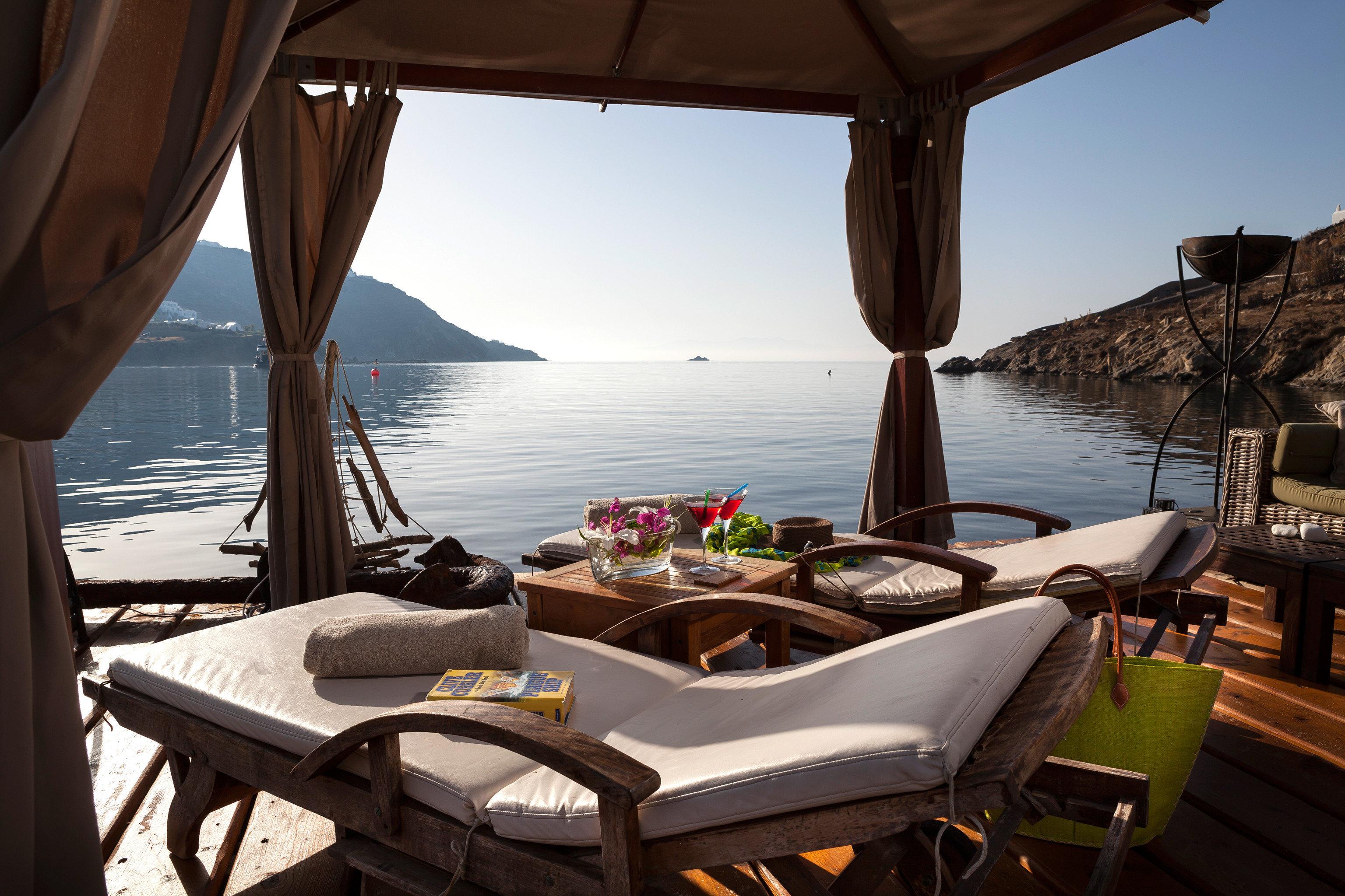 Beachfront Hip Lounge Luxury Modern sky chair Boat vehicle yacht passenger ship Sea travel overlooking set day