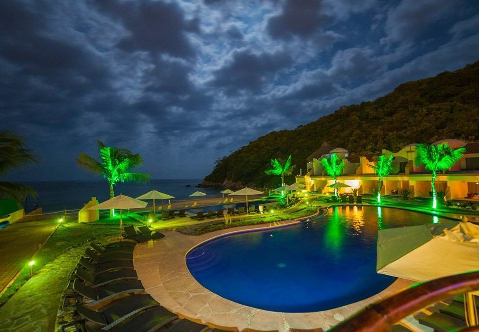 Beachfront Boutique Budget Lounge Pool Rustic Waterfront swimming pool ecosystem green night Resort screenshot Jungle colorful