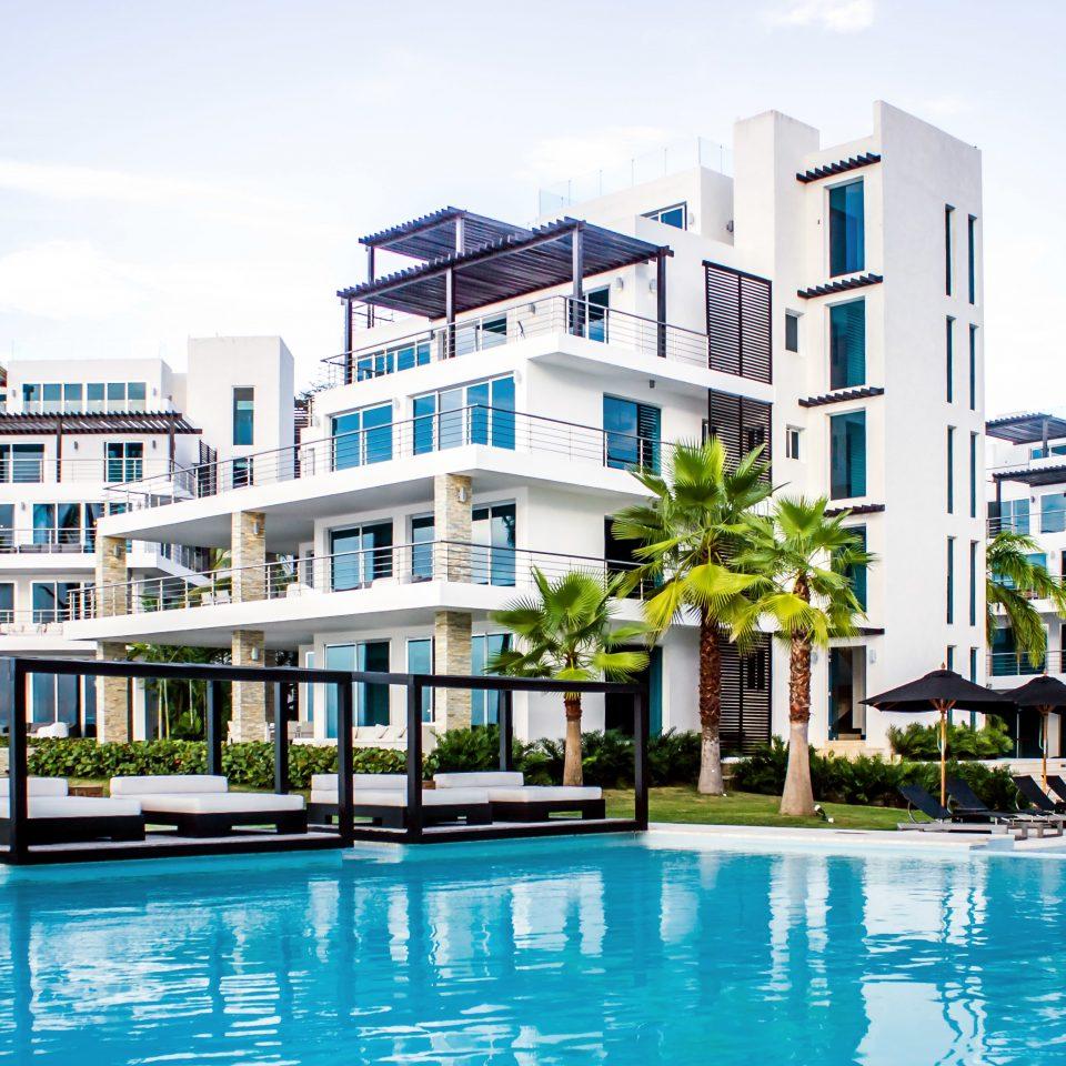 Beachfront Buildings Grounds Luxury Modern Pool building condominium Resort property leisure residential area marina home dock swimming