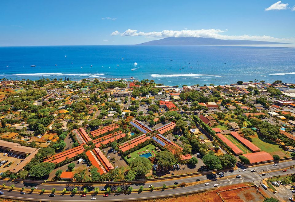 Beachfront Grounds Ocean sky aerial photography bird's eye view Nature Coast Town horizon residential area Sea cityscape cape shore suburb overlooking