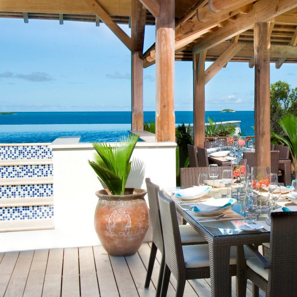 Beachfront Resort Scenic views chair property leisure restaurant caribbean Villa Dining cottage Deck porch