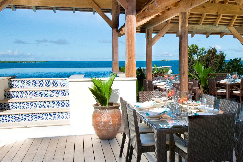 Beachfront Resort Scenic views chair property leisure restaurant caribbean Villa Dining cottage Deck porch