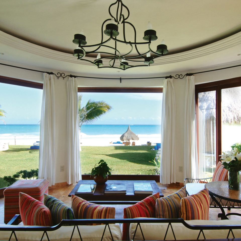 Beachfront Deck Resort Romance Romantic property home house mansion Villa living room