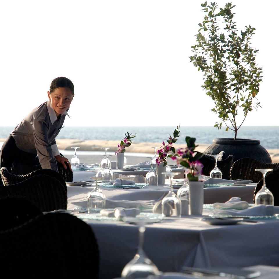 Beachfront Dining Drink Eat Luxury Romantic Waterfront sky ceremony restaurant