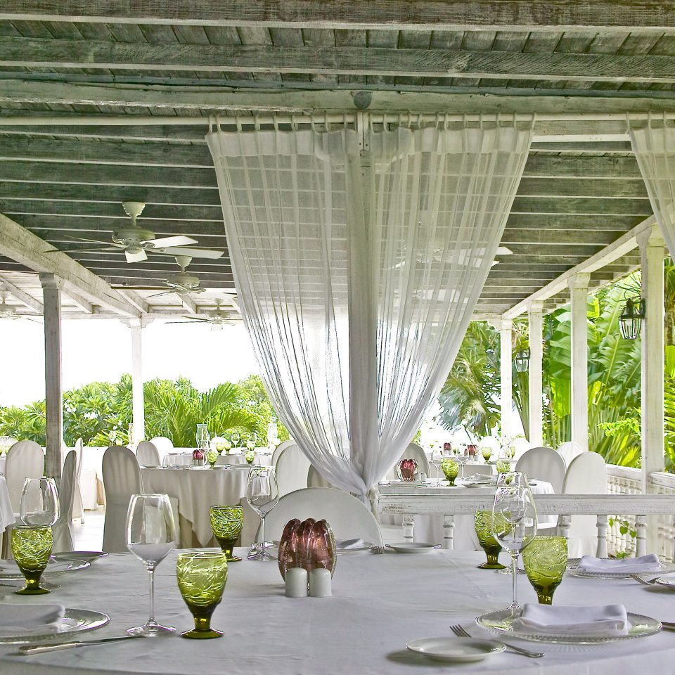 Beachfront Dining Island Ocean aisle wedding restaurant function hall