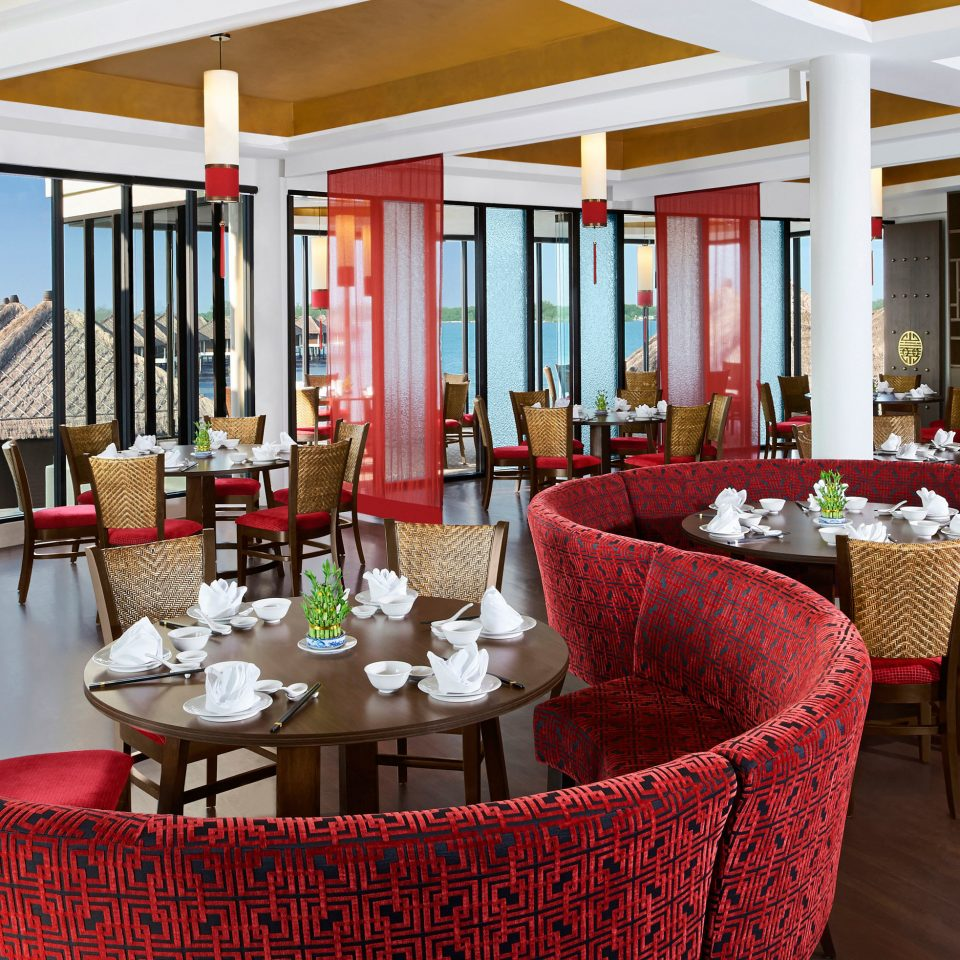 Beachfront Dining Luxury Waterfront chair red restaurant Resort function hall living room porch