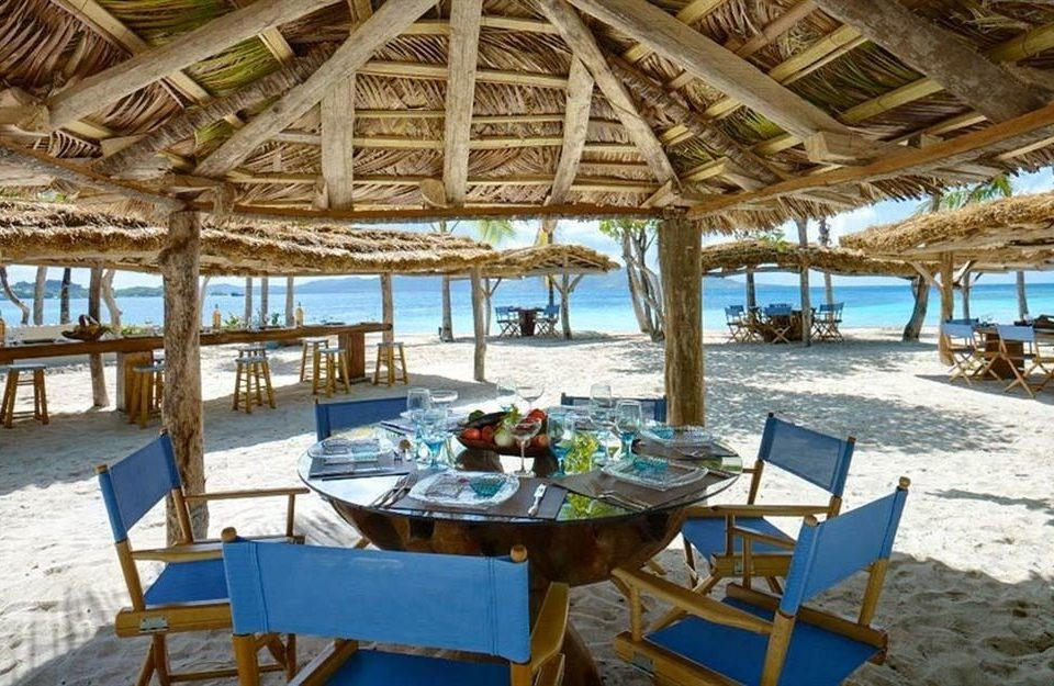 Beachfront Dining Luxury Resort chair leisure property wooden caribbean Villa restaurant cottage eco hotel swimming pool