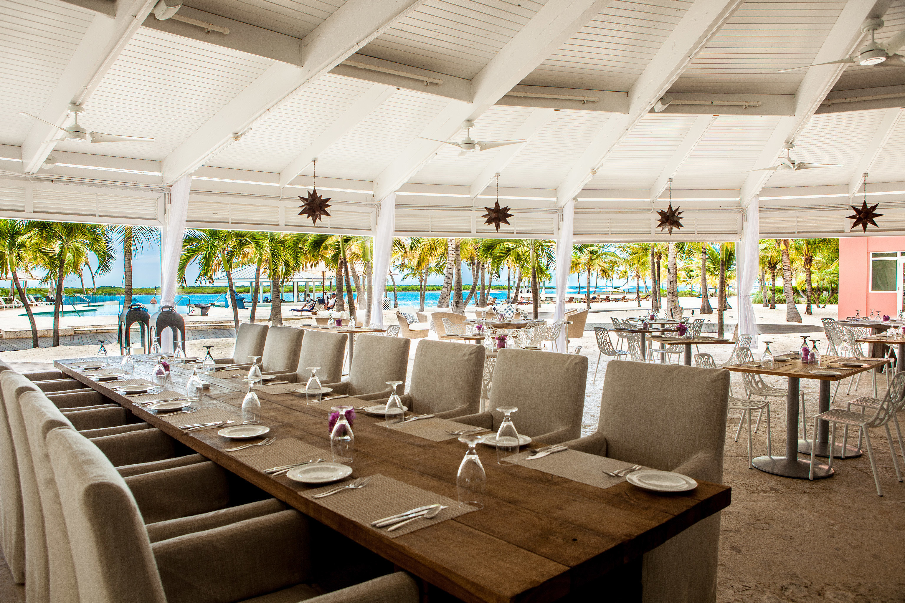 Beachfront Drink Eat Grounds Play Resort function hall restaurant convention center conference hall banquet ballroom