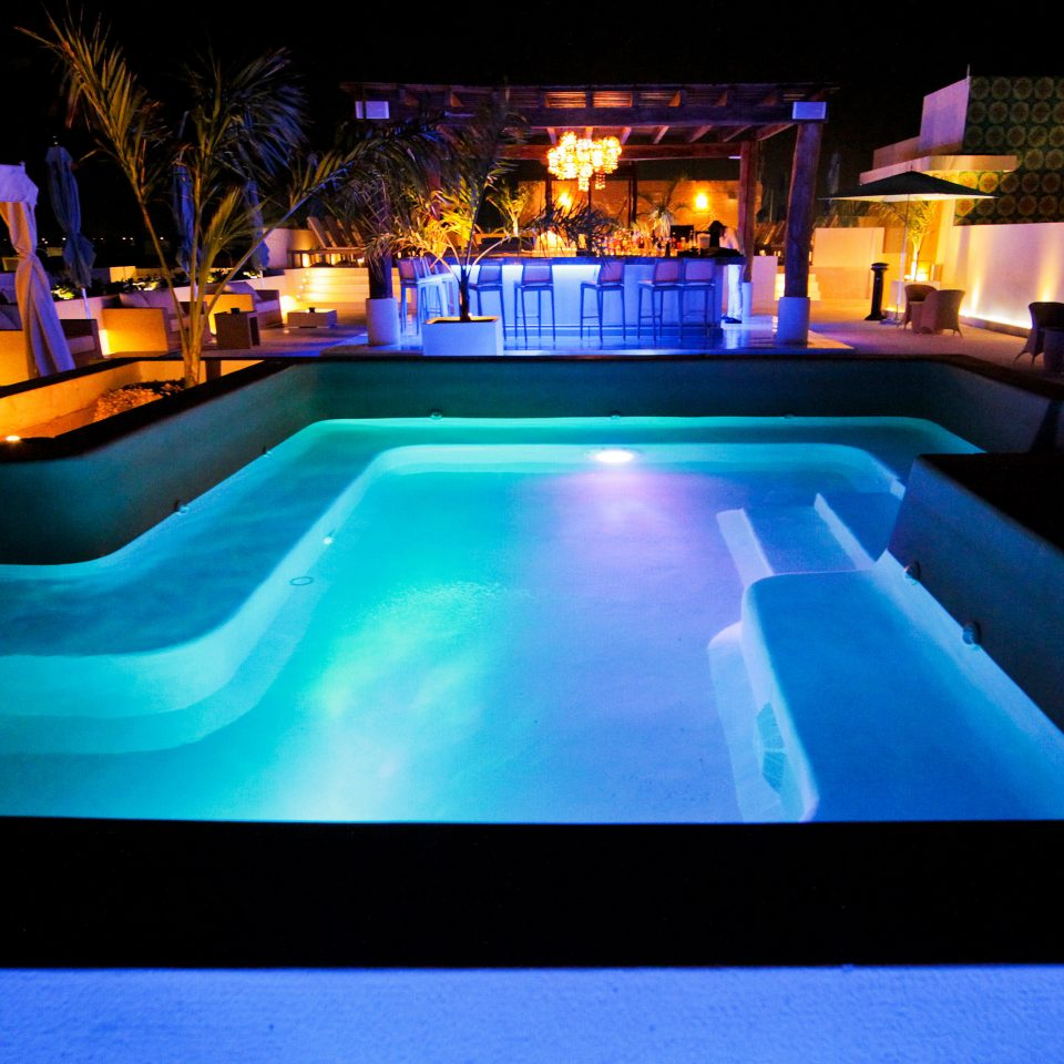 Beachfront Elegant Hip Lounge Luxury Modern Pool swimming pool leisure nightclub games light