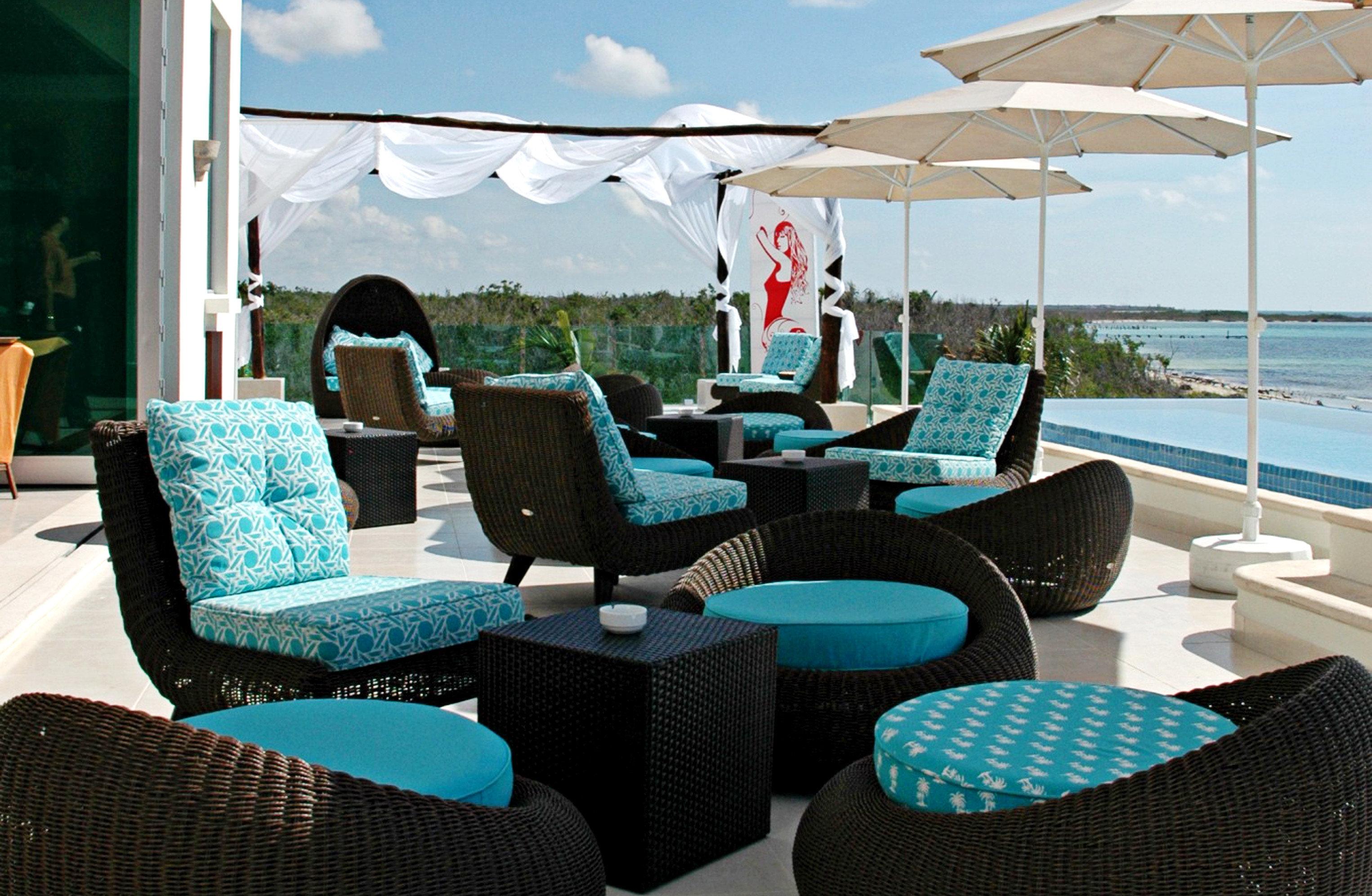 Beachfront Elegant Hip Lounge Luxury sky chair leisure blue living room day