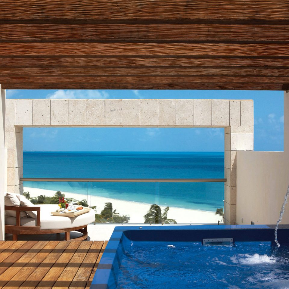 Beachfront Elegant Lounge Luxury Modern Pool swimming pool property house wooden Villa cottage blue