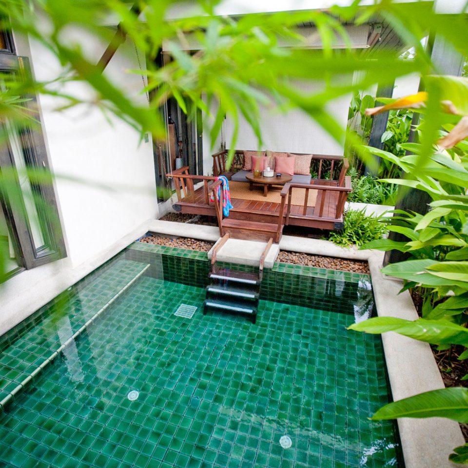 Beachfront Lounge Luxury Modern Pool Scenic views green leisure swimming pool grass backyard Resort plant Garden lawn Jungle condominium Villa