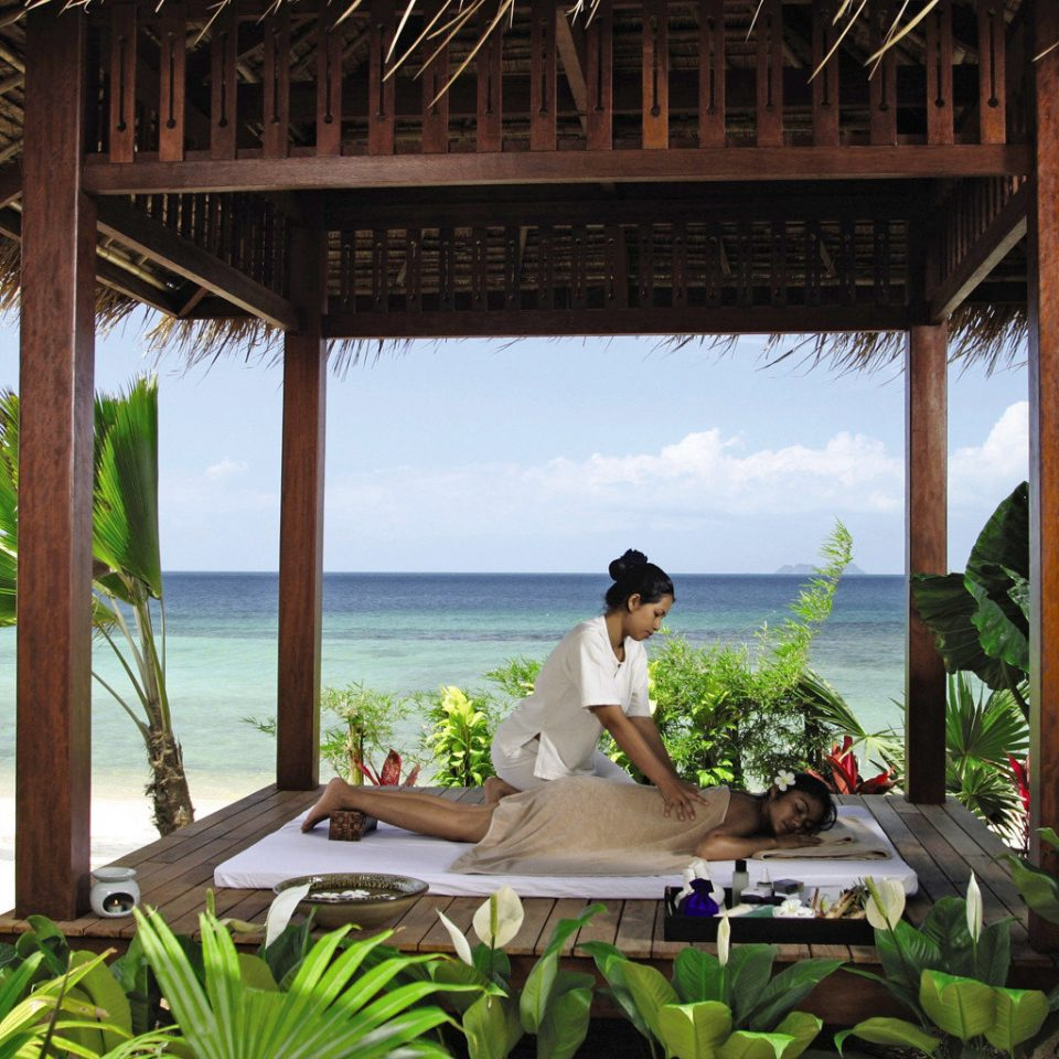 Beachfront Hip Luxury Modern Spa Resort caribbean tropics arecales Villa Jungle overlooking