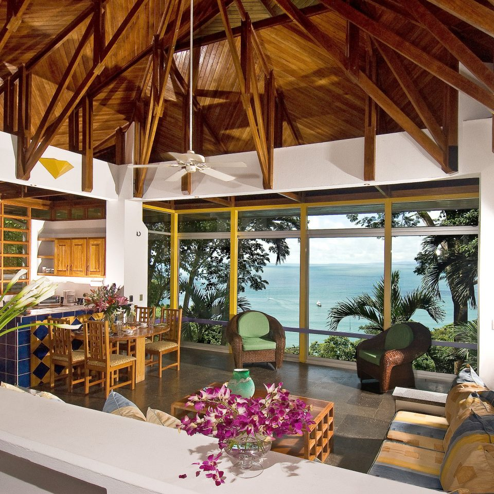 Beachfront Hip Lounge Luxury Scenic views property Resort home Villa cottage restaurant hacienda outdoor structure porch