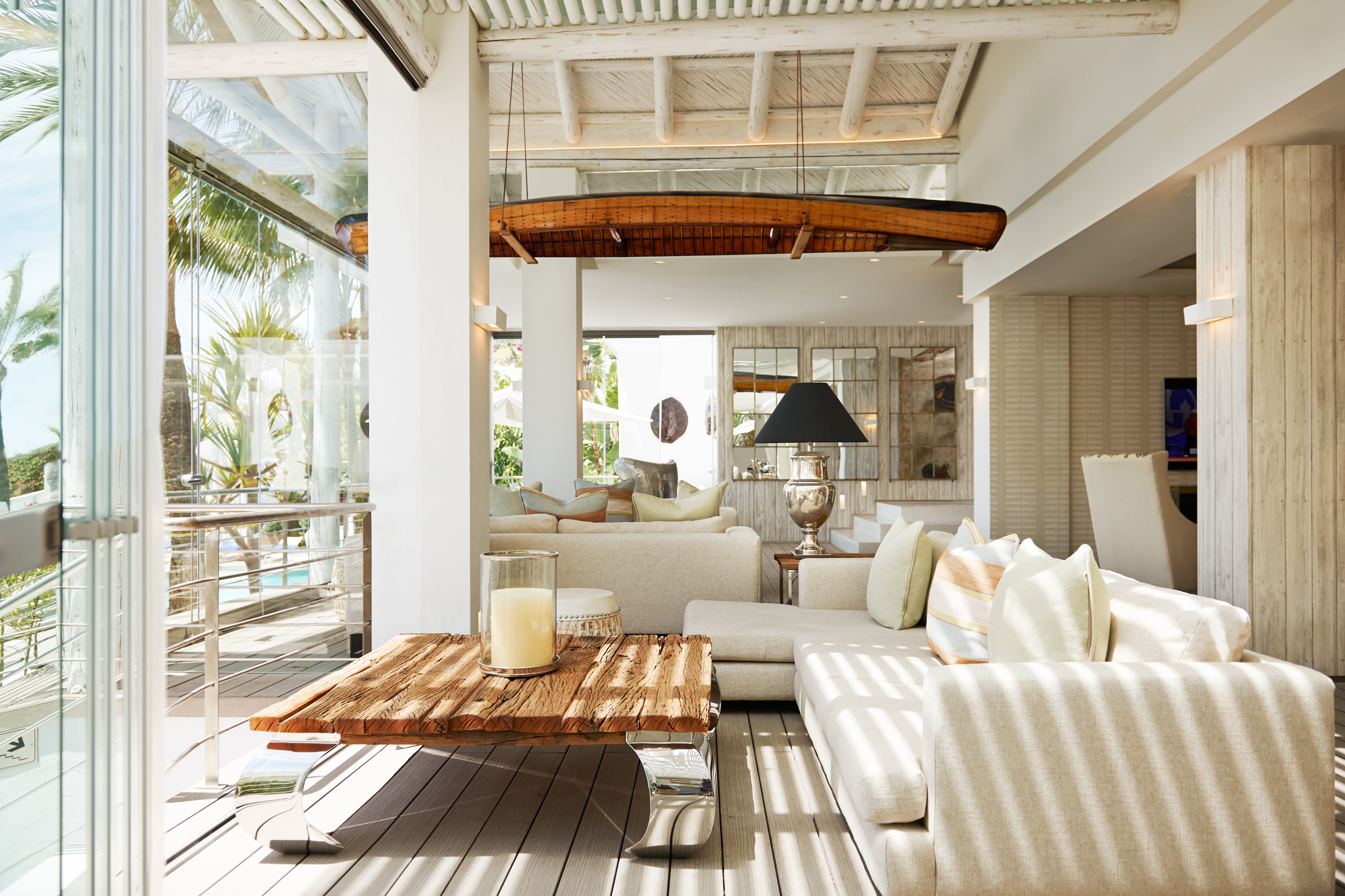 Beachfront Hip Lounge Luxury Modern Scenic views property living room home porch cottage farmhouse Villa mansion condominium outdoor structure