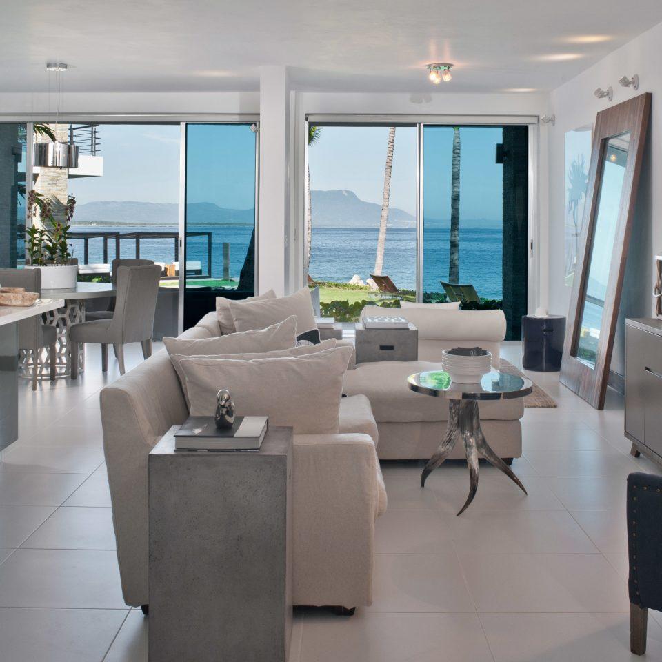 Beachfront Hotels Luxury Modern Suite property condominium home living room Kitchen Villa
