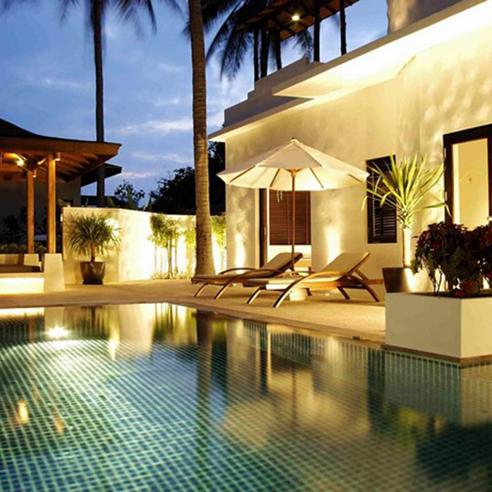 Beachfront Jungle Patio Pool Tropical property swimming pool Resort Villa Lobby home condominium mansion