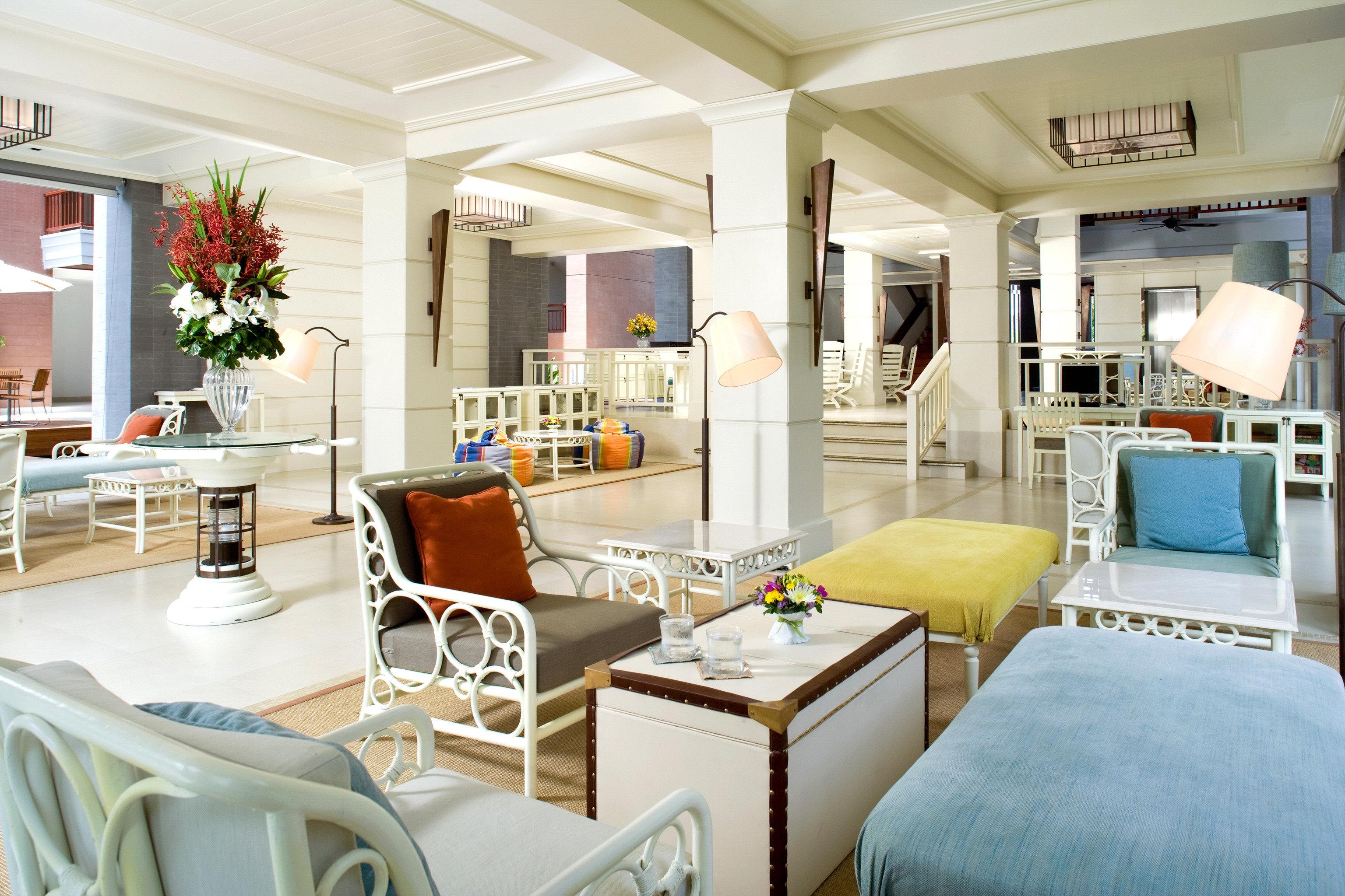 Beachfront Lobby Lounge Tropical property living room condominium home cottage Suite Villa