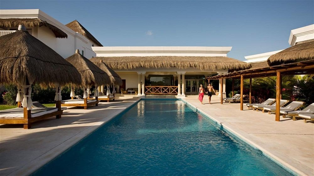 Beachfront Lounge Luxury Modern Pool Tropical building sky leisure swimming pool property Resort house home Villa palace