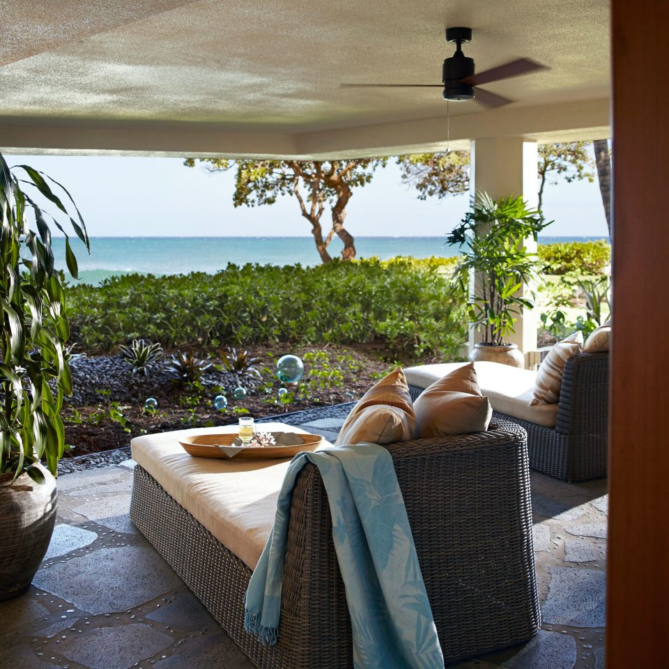 Beachfront Lounge Ocean Scenic views property house home Resort Villa cottage backyard porch living room farmhouse