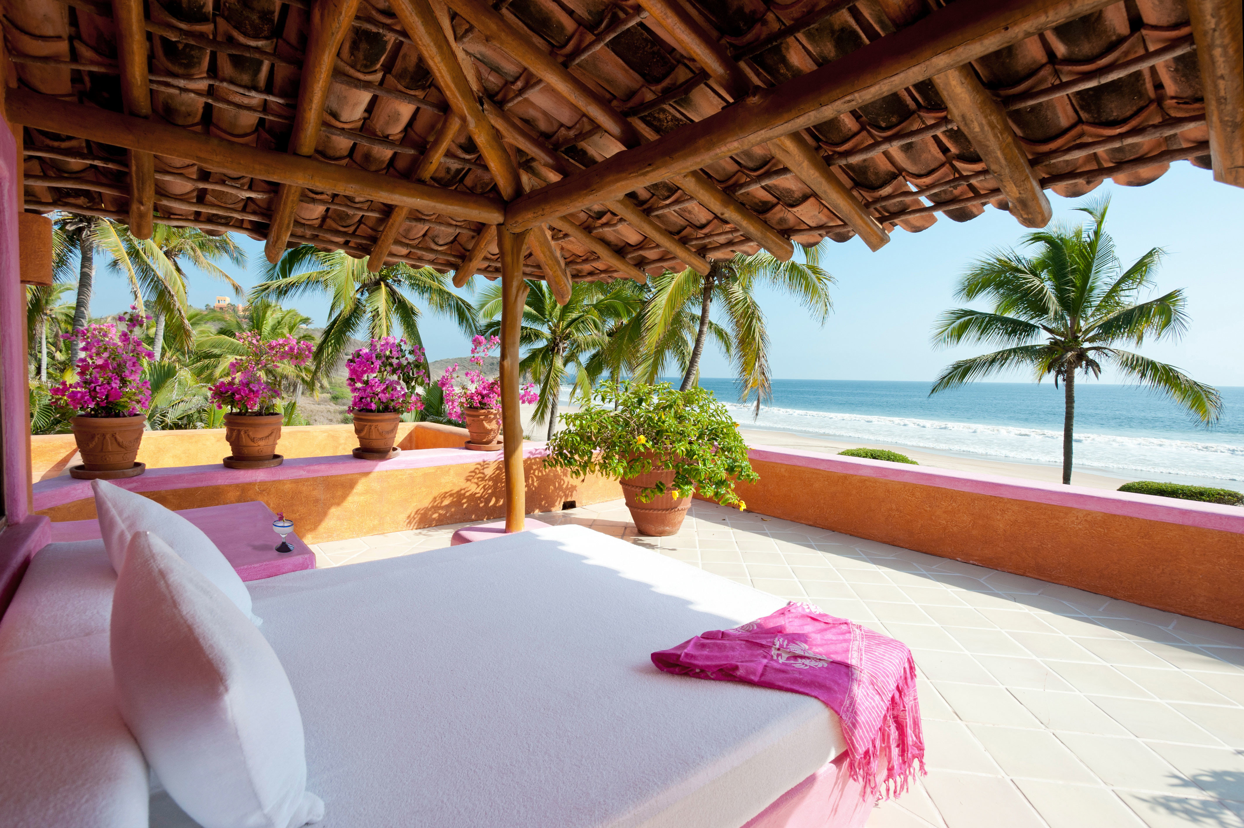 Beachfront Romantic Scenic views property Resort swimming pool Villa hacienda mansion caribbean eco hotel