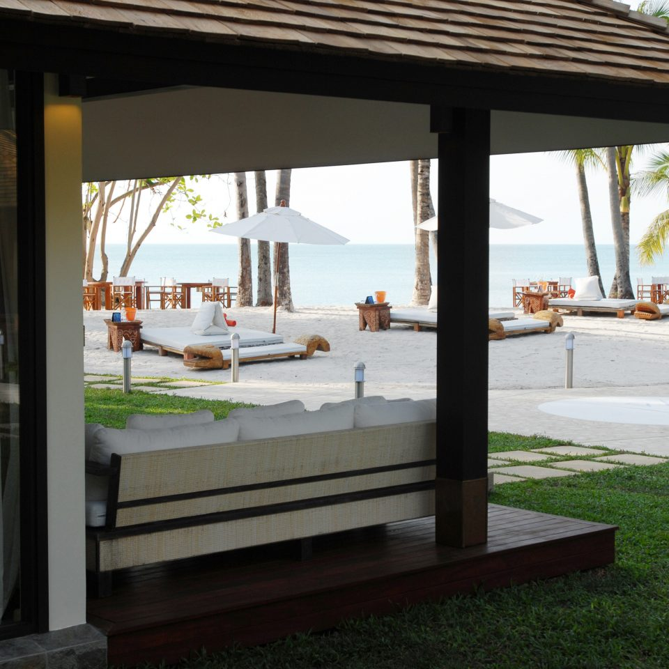 Beachfront Resort property building home outdoor structure pavilion Villa porch