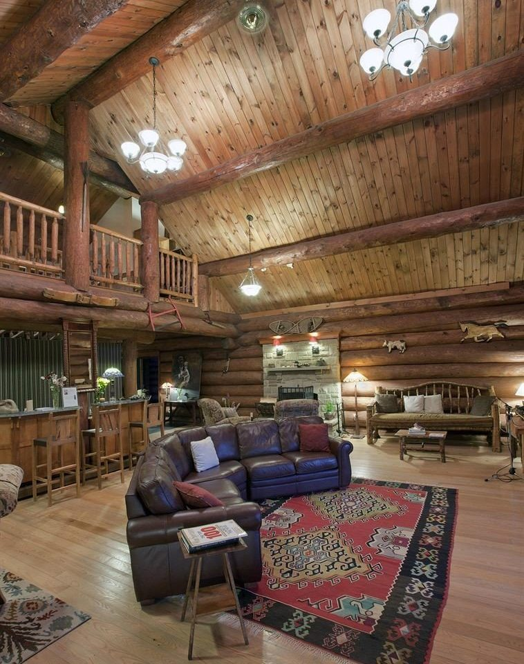 property building log cabin house living room home beam cottage farmhouse