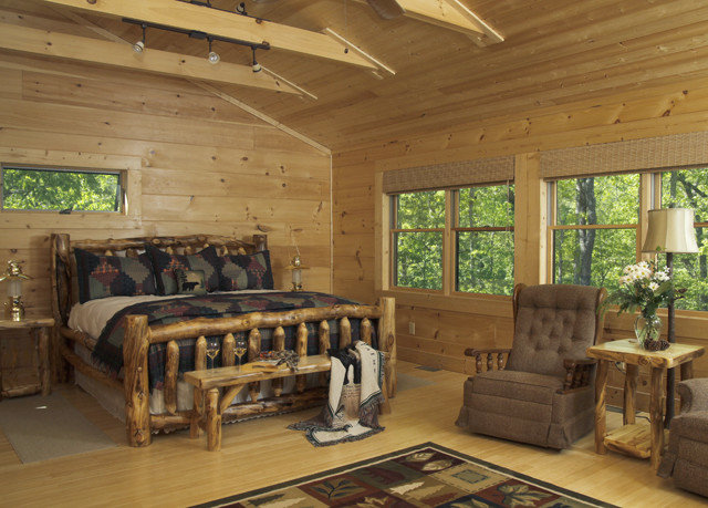 log cabin property living room hardwood home cottage farmhouse recreation room wooden wood flooring beam hard