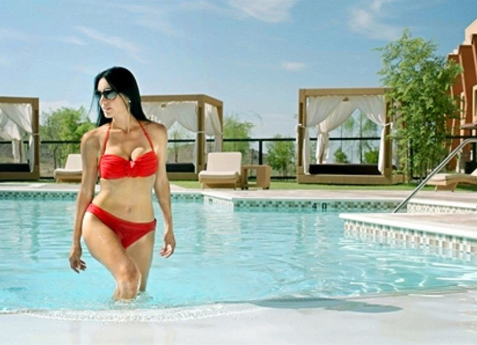 sky leisure swimming pool woman beautiful swimming