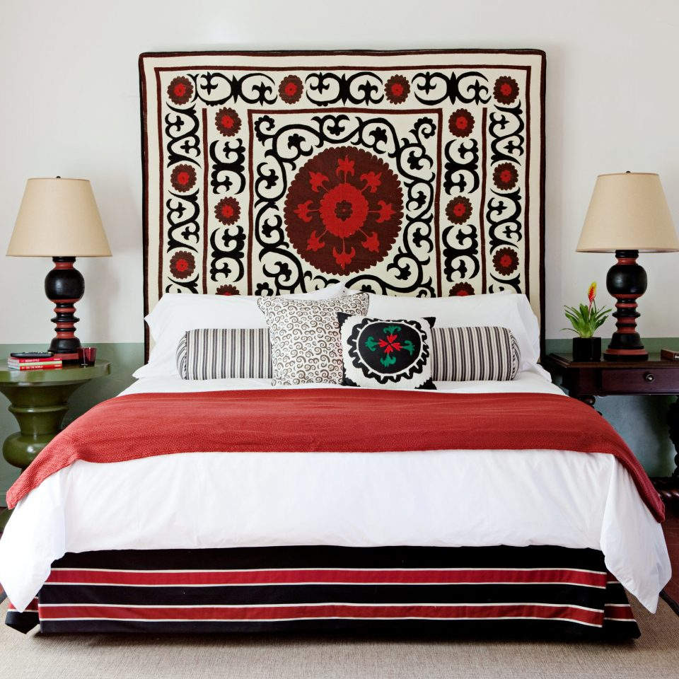 red duvet cover bed sheet textile material bed frame orange