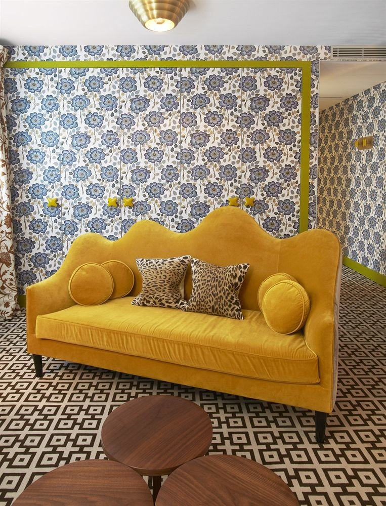yellow living room couch bed sheet studio couch flooring chair