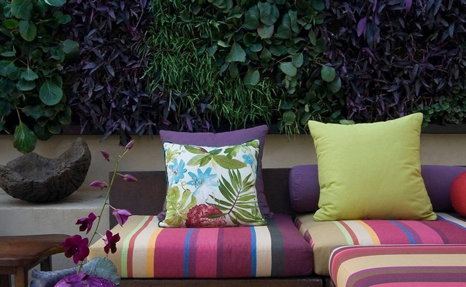 color purple bed sheet plant living room textile flower cushion sofa seat colored