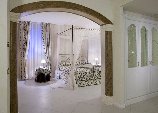 property house white mansion home curtain arch hall textile window treatment Bedroom tile tiled