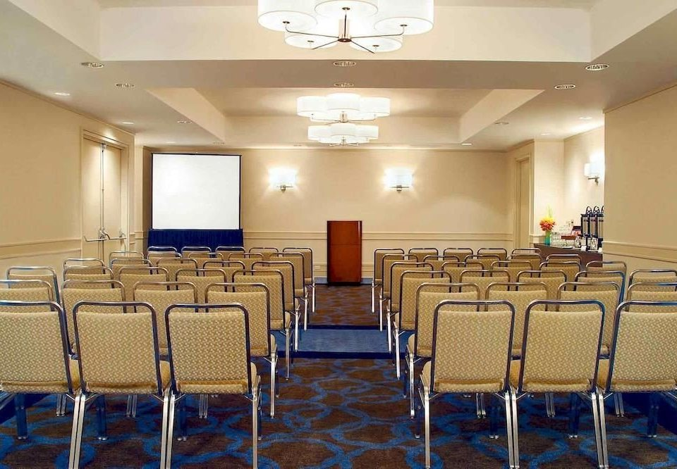 chair function hall auditorium conference hall meeting convention center banquet ballroom empty set Bedroom