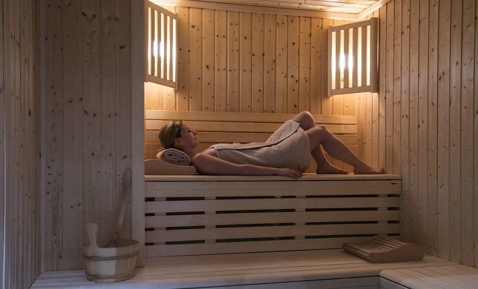 bathroom wooden sauna Bedroom