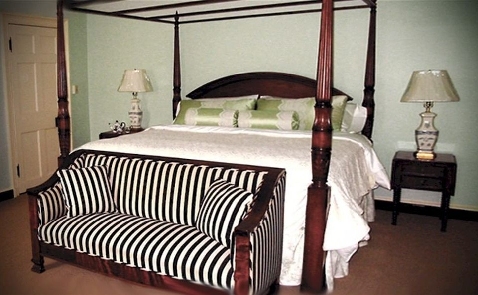 Bedroom property product cottage bed frame lamp four poster bed sheet