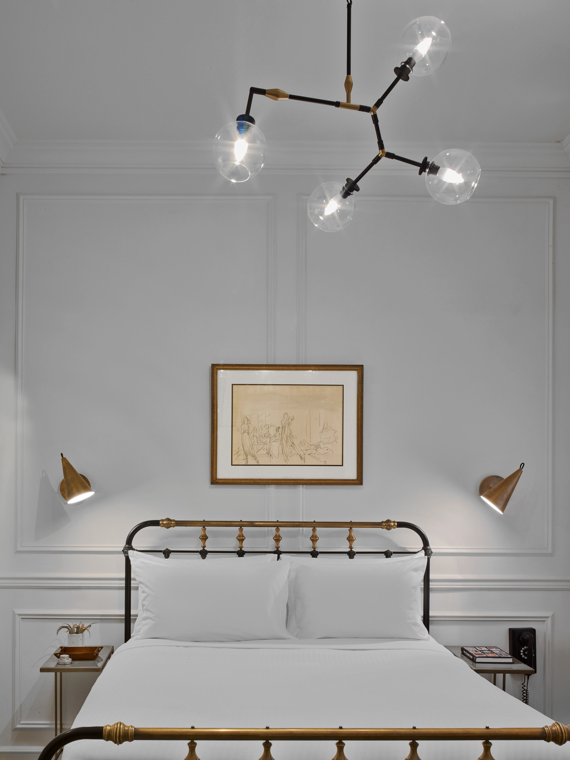 light fixture home bed frame lighting lamp Bedroom white lighting accessory product design chandelier product daylighting lampshade