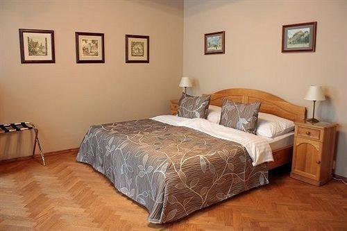 property Bedroom scene cottage hardwood bed frame