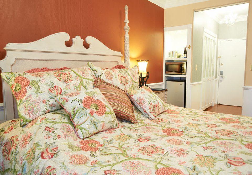 Bedroom bed sheet cottage textile duvet cover orange bedclothes