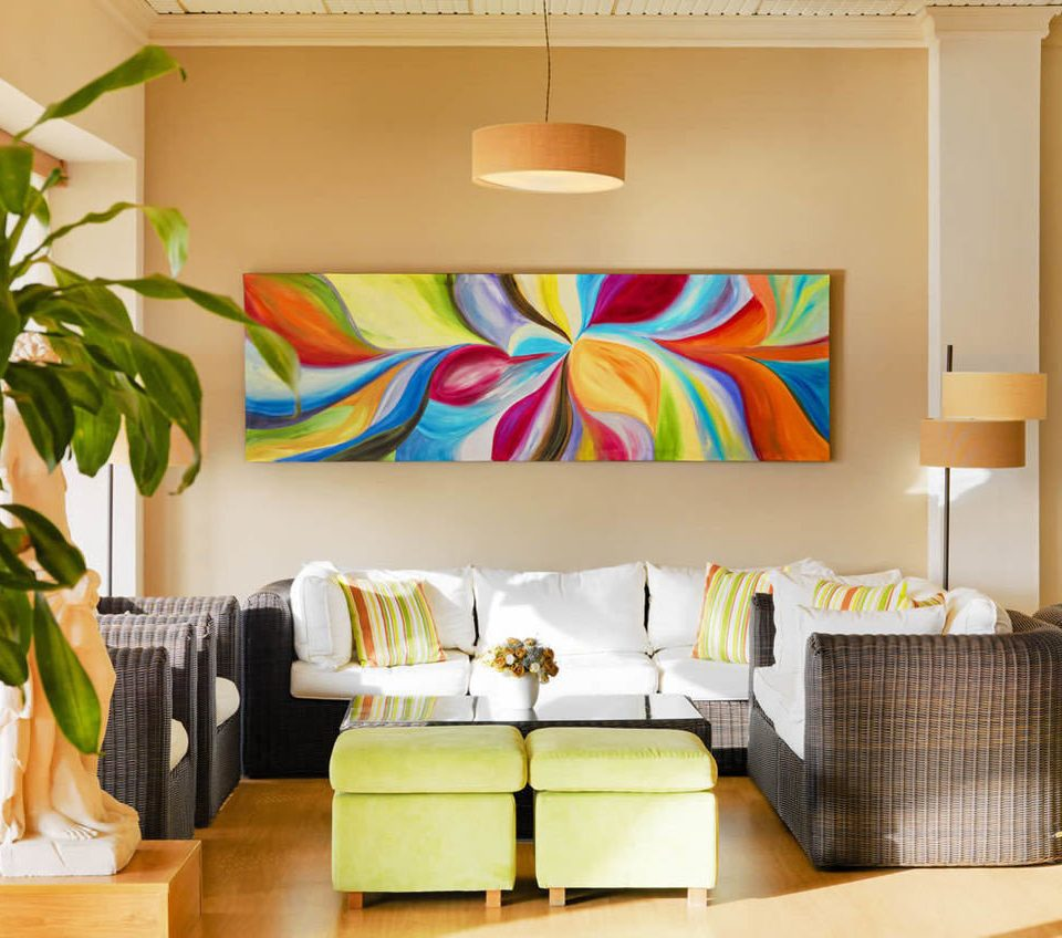 color living room yellow modern art home bed sheet colorful Bedroom sofa colored