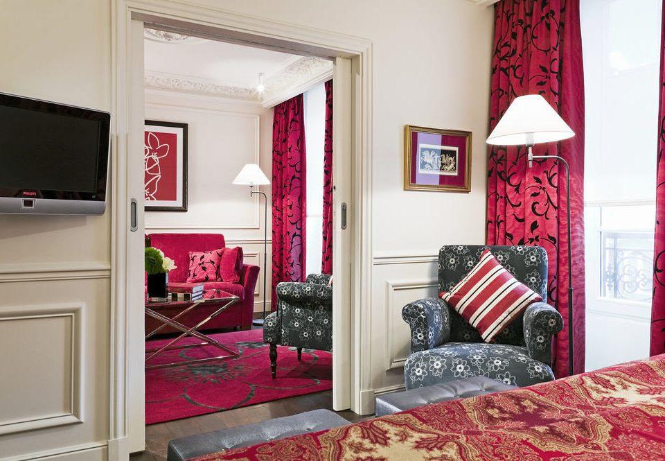 red property Bedroom home living room cottage bed sheet