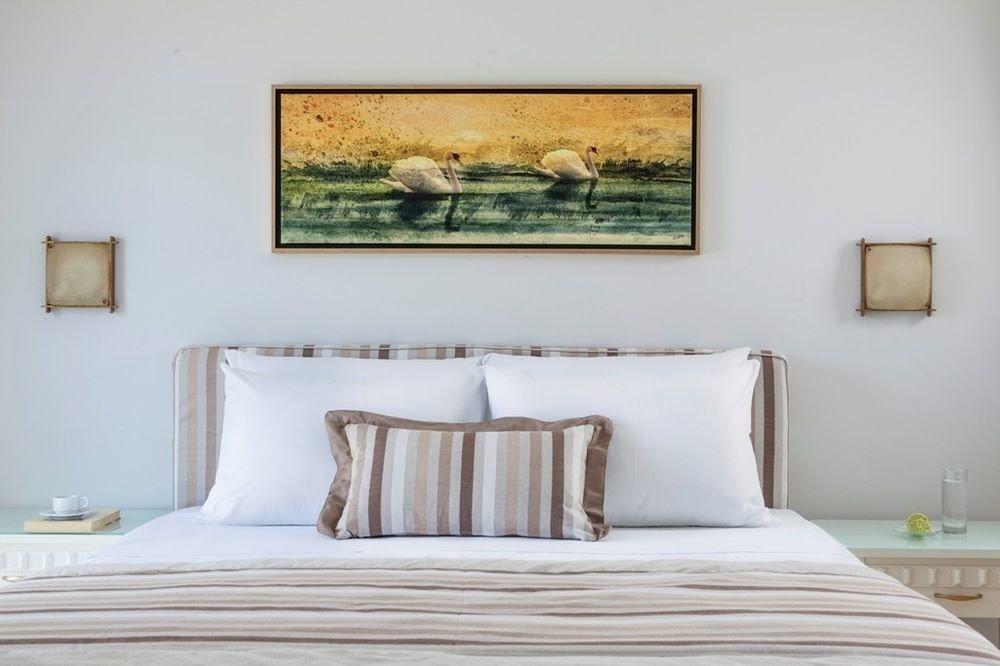 Bedroom property pillow scene modern art living room bed sheet painting