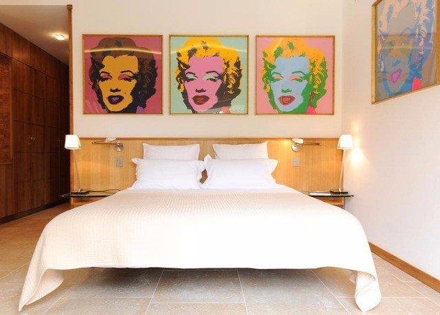 bed sheet modern art Bedroom