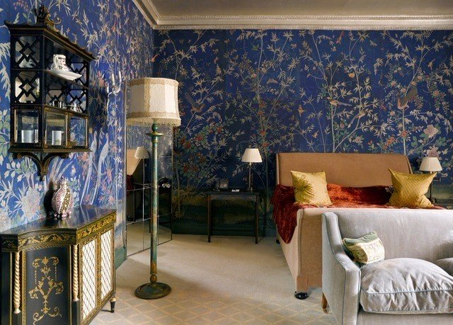 blue living room home Bedroom window treatment wallpaper interior designer decor