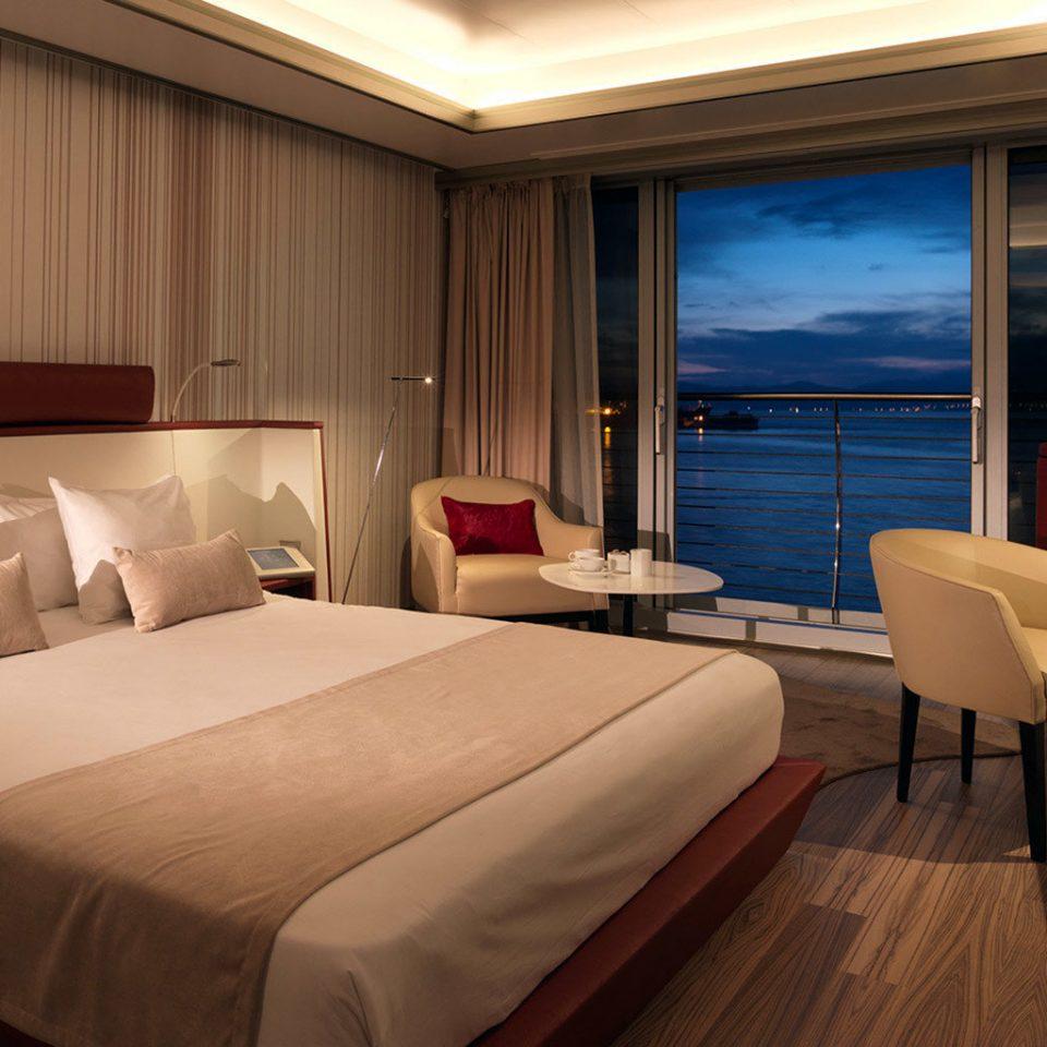 Boat Bedroom vehicle passenger ship ship luxury yacht yacht desk Suite watercraft Cabin cottage